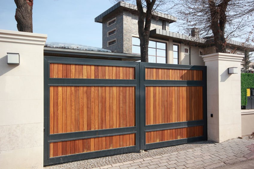 wooden sliding gate opener for your home driveway