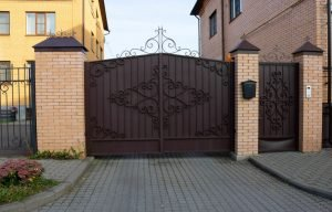 metal sliding swing gate for cars into your yard