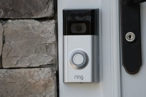 Ring video doorbell 2 fitted near front door